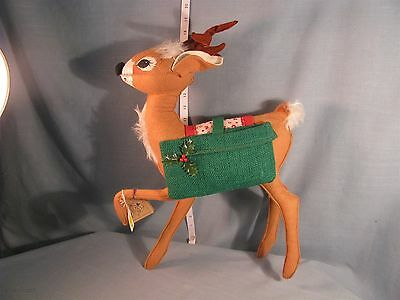 """Annalee Dolls 18"""" Reindeer W/Saddlebags -6600 1989 HANG TAG -EXCELLENT CONDITION"""