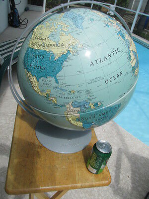 "Nice World Topographical Globe 16"" Nystrom"