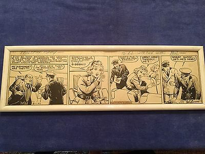 """Original """"Tail Spin Tommy"""" signed cartoon strip by Hal Forrest"""