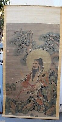 Chinese or Japanese Scroll Item #49 (buddha by tree)