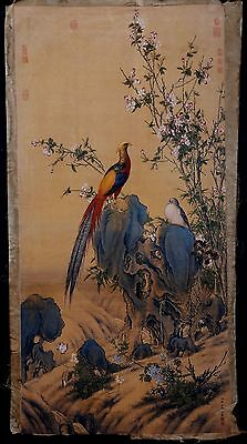 Excellent Long Old Paper Chinese Hand Painting Landscape Marks Collection KK007