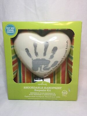 HallMark RECORDABLE KEEPSAKE HANDPRINT KIT NEW IN BOX FRT1010 SHIPS ASAP