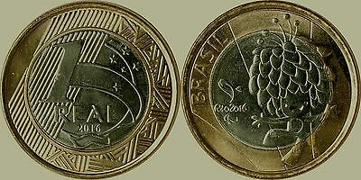 Brasil 1 Real coin - Olympic Games Rio 2016 - Paralympic Mascot aUNC