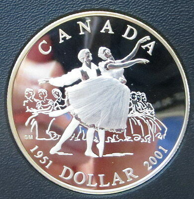2001 Canada Proof Silver dollar -  50th Anniversary of the National Ballet