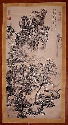 Awesome Rare Old Paper Chinese Landscape Hand Painting By ZouYiGui Marked PP899