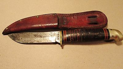 Vintage Boy Scouts Of America Hunting Knife Western Colorado With Logo Stamp !!