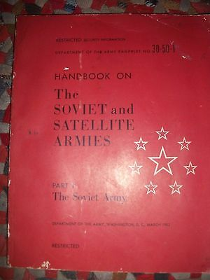 Historic Soviet and Satellite Armies Handbook 1953 Dept. of The Army