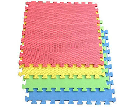 10pcs Cartoon Animal  Foam Interlocking Mats Floor Kids Play Exercise Office Mat