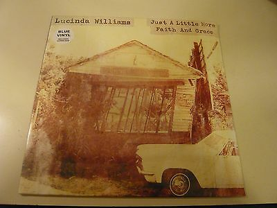 Lucinda Williams Just A Little More Faith Blue Vinyl EP Record Store Day 2016