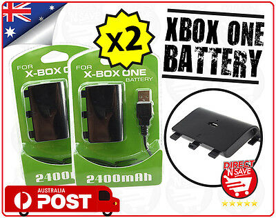 Xbox One Style Battery Pack Controller Rechargeable 2400mAh Rechargeable X2