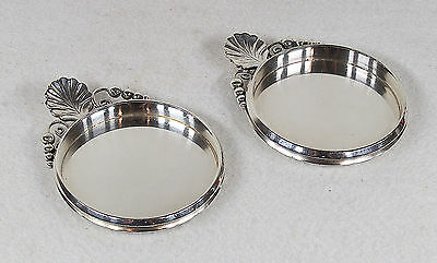 Alphonse La Paglia (1907-1953) Heavy Sterling Silver Pair of Coasters Glass/Beer