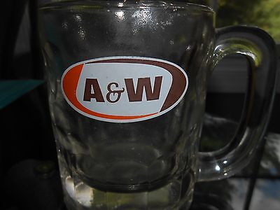 """A&W Root Beer Vintage HEAVY Antique Handled Mug 4.4"""" Tall Classic Style"""