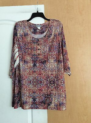 New Catherine's - Multi color/printed Women Top Plus Size 1X