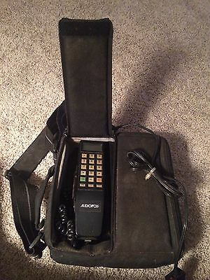 A Vintage AUDIOVOX Car Phone In Carry Bag With Power Pack And Car Charger