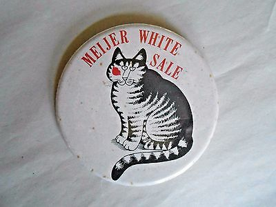 Vintage Meijer Store White Sale Cat Advertising Pinback Button