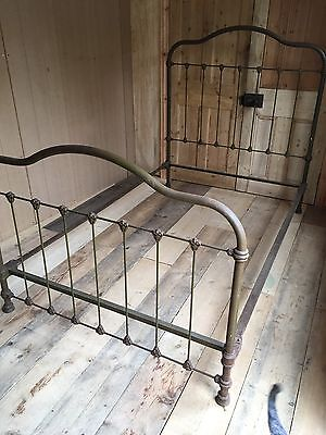 Victorian Cast Iron Small Double Bed