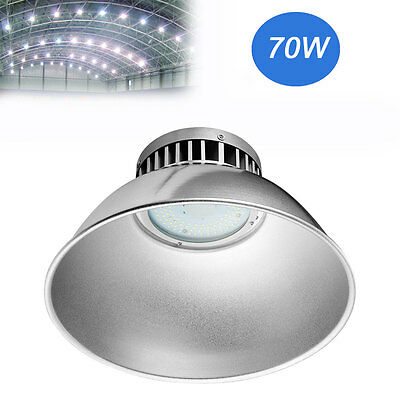 1X 70W LED High Bay Warehouse Light Bright White Fixture Factory Commercial Lamp