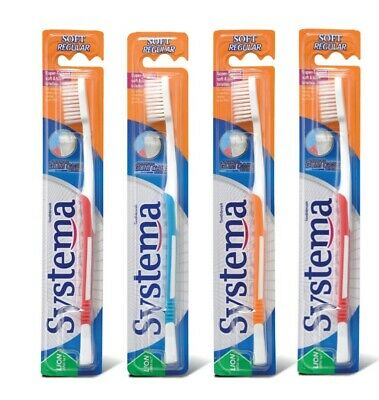 SYSTEMA SOFT REGULAR ADULT TOOTHBRUSH (Japan's No. 1 brand)  4 PCS FOR  $14.95