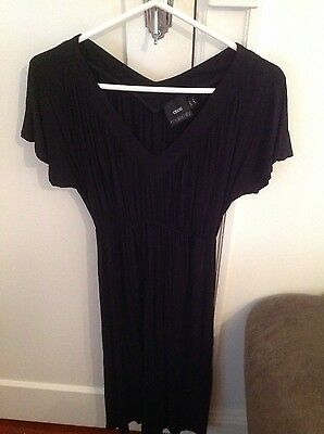 Asos black maternity dress size 8