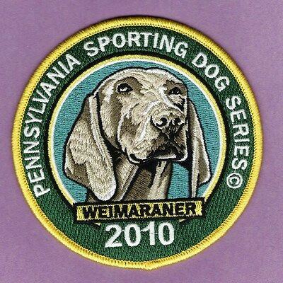 Pennsylvania Fish Game Commission NEW 2010 Sporting Dog Series Weimaraner patch