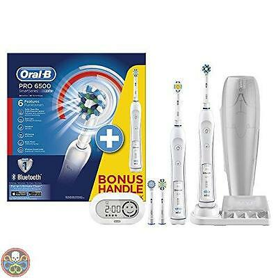 Oral-B White Pro 6500 + Bonus Handle Electric Toothbrush - Electric Nuovo