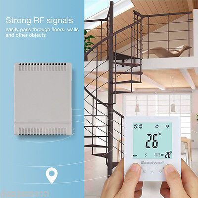 Wireless LCD Display Heating Thermostat Digital Smart RF Temperature Control