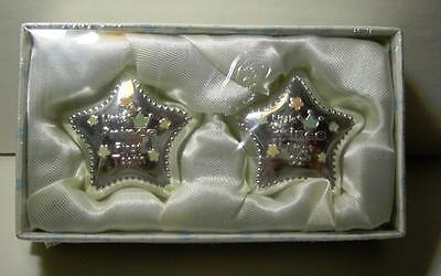 Stephan Baby First Tooth First Curl Silver Plated Little Prince Boxes MIB