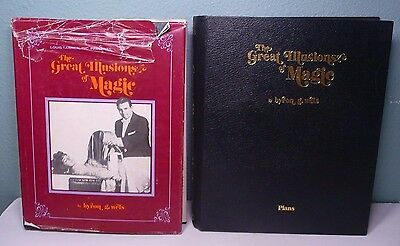 Rare Set 1977 The Great Illusions of Magic Book Plans & Text by Byron G. Wels