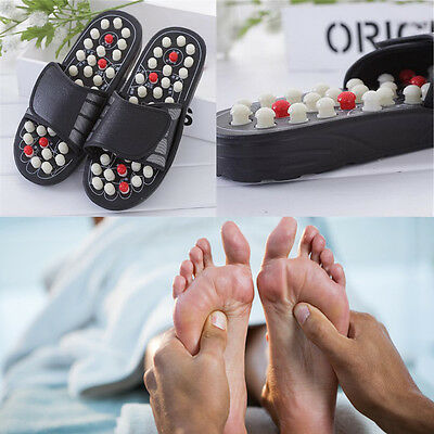 1 Pair Reflexology Sandals Massager Slipper Acupressure Foot Acupuncture Shoes
