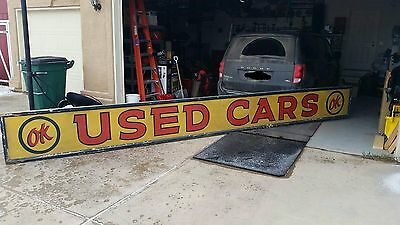 Vintage Chevy OK Used Cars Dealership Sign, not porcelain