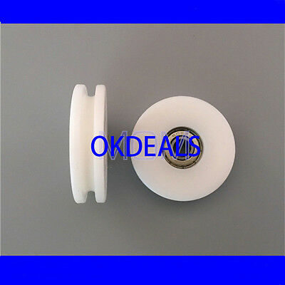 8*50*12mm Nylon Plastic Embedded 608 U Groove Ball Bearing Guide Pulley 2017