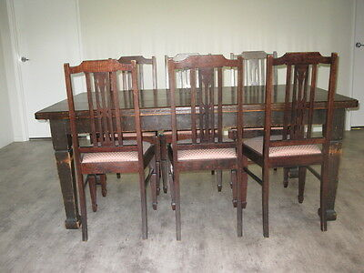 Antique Silky Oak Dining Suite