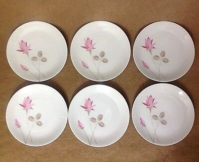 """Vintage 7.5"""" Inches Thomas Fine Porcelain Germany Salad Plate Lot Of 6"""