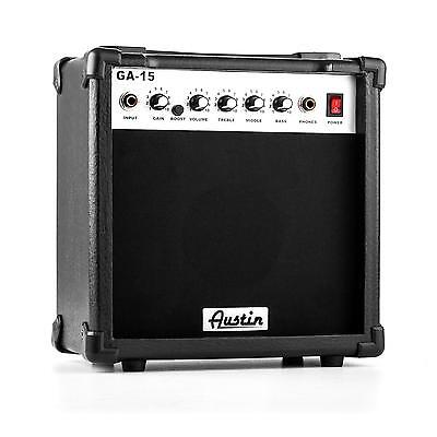 Austin GA-15 Amplificateur pour guitare 15W max. EQ disto portable - noir