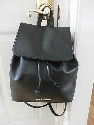 New Victoria's Secret Faux Leather Runway Backpack in Black