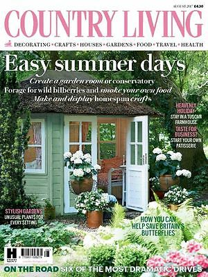 Country Living Magazine August 8/2017 Easy Summer Days Current Issue