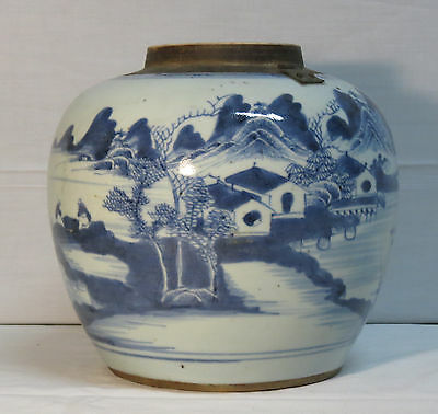 Chinese Porcelain Ginger Jar- Blue And White Decoration - Nº5