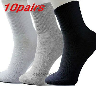 10 Pairs 3 Colors Men Winter Socks Thermal Casual Soft Cotton Sport Sock Gift