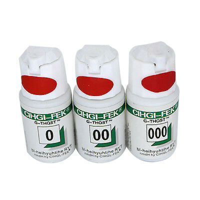 New 3 Bottles Pro Dental Gingival Retraction Knitted Kit Cord Size 000 00 0