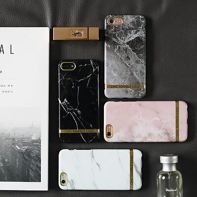 Stylish Fashion Chic Marble Glossy Soft Case Skin For iPhoneX 7 8 Plus iPhone 6S