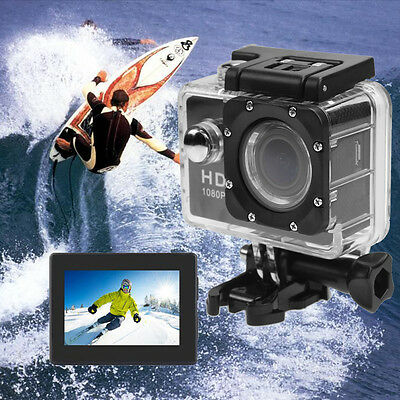 1080P HD Helmet DV Action Camera SJ4000 Waterproof Video Camcorder Go Black Pro
