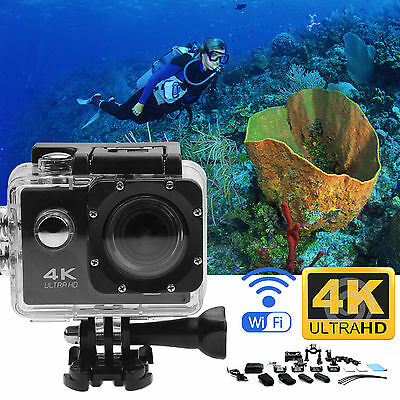 Ultra 4K HD Wifi Action Camera 1080P Video Camcorder Sports DV Pro Waterproof