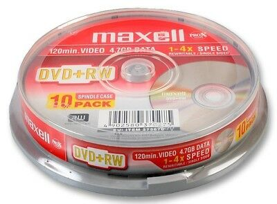 Maxell DVD+RW Pack of 10 Spindle 275670