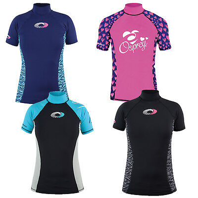 Osprey Ladies Rash Vest Womens Short Sleeve Surf T-Shirt UV 50+ Protection Guard