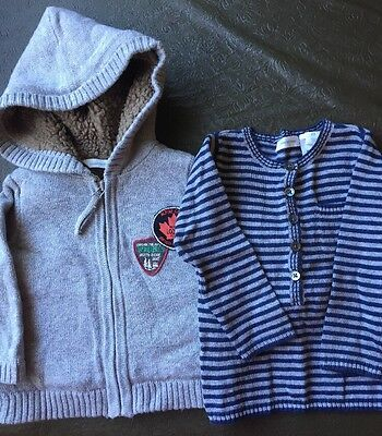 Baby Boys Country Road Top And Jacket Size 3-6 Months EUC