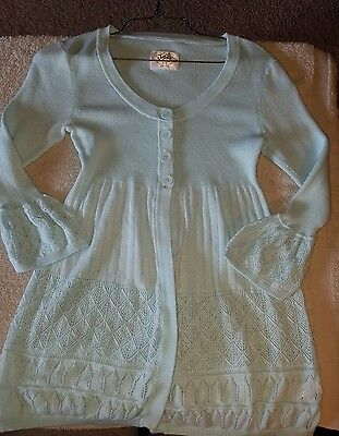 Justice girls Light Blue Sweater size 16