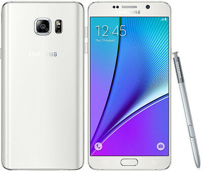 New Samsung Galaxy Note 5 SM-N920 32GB Factory GSM Unlocked Smartphone White【US】