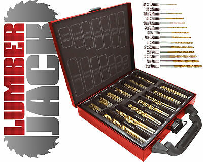 Lumberjack DBS99 Quality 99 Piece Titanium Coated HSS Drill Bit Set Metal Case