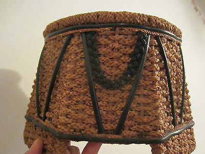 antique woven sewing basket  primitive