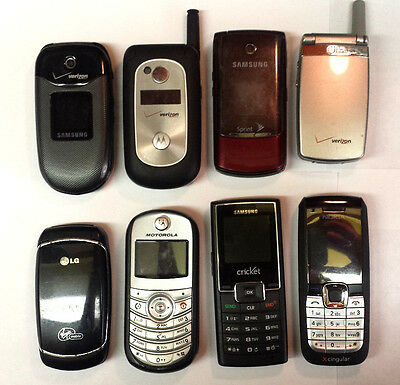 Lot Of 8 Old Cell Phones For Parts - Untested